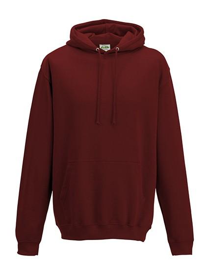college hoodie brick red