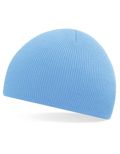 Pull-On Beanie Mütze Sky blue besticken