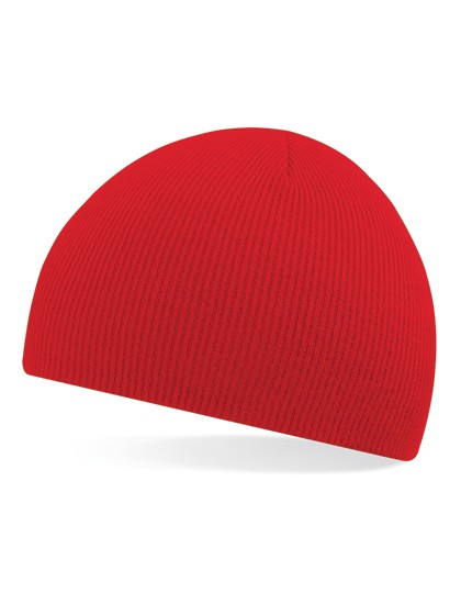 Pull-On Beanie Mütze rot besticken