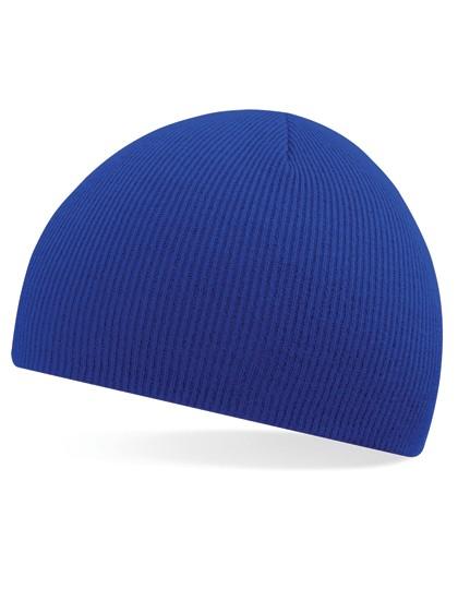 Pull-On Beanie Mütze blau besticken