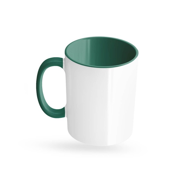Tassen bedrucken dunkelgrün