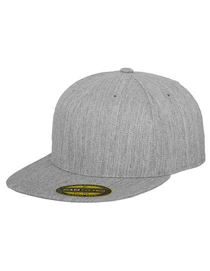 Flexfit Cap ohne Öffnung mit Gummizug besticken lassen, heather grey