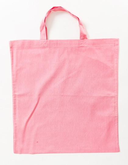 light rosa Stoffbeutel kurze Henkel