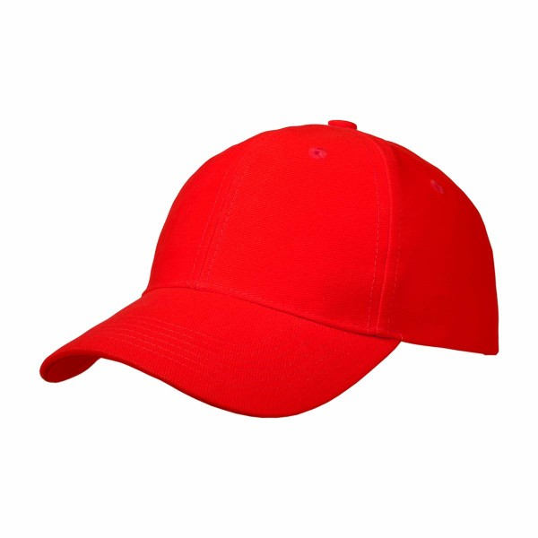 Basic Cap mit Velcro-Verschluss rot