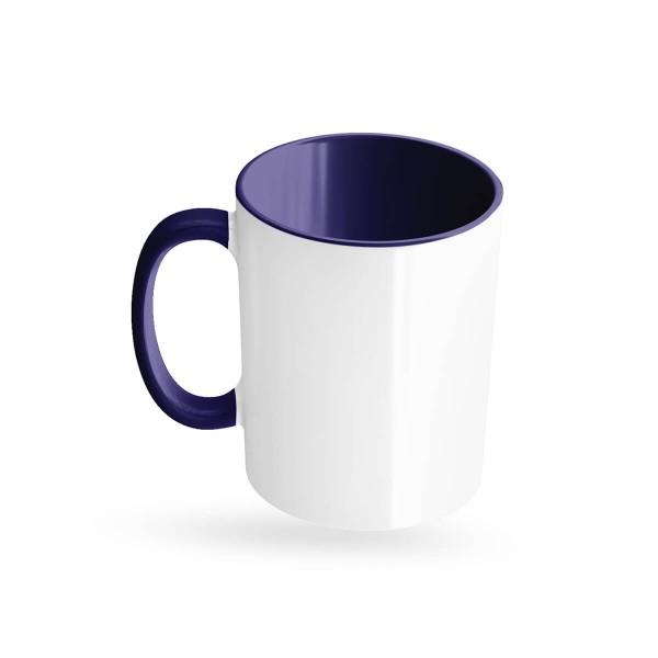 Tassen bedrucken blau