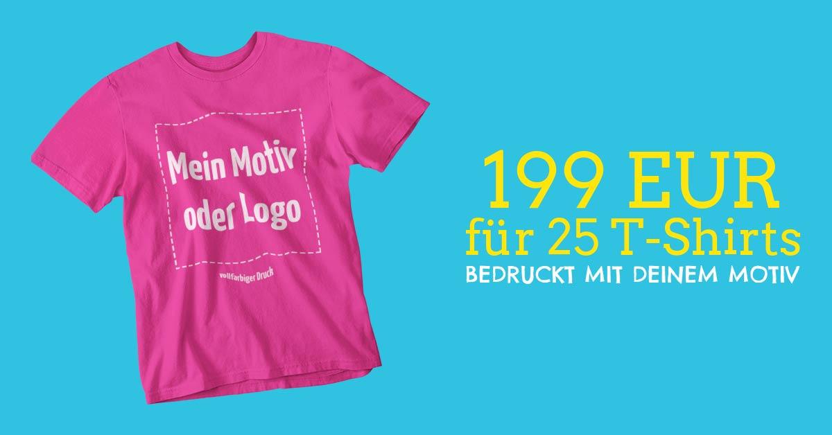 6b045b8bec369 25x Stück Basic T-Shirts Exact 190 inkl. Druck