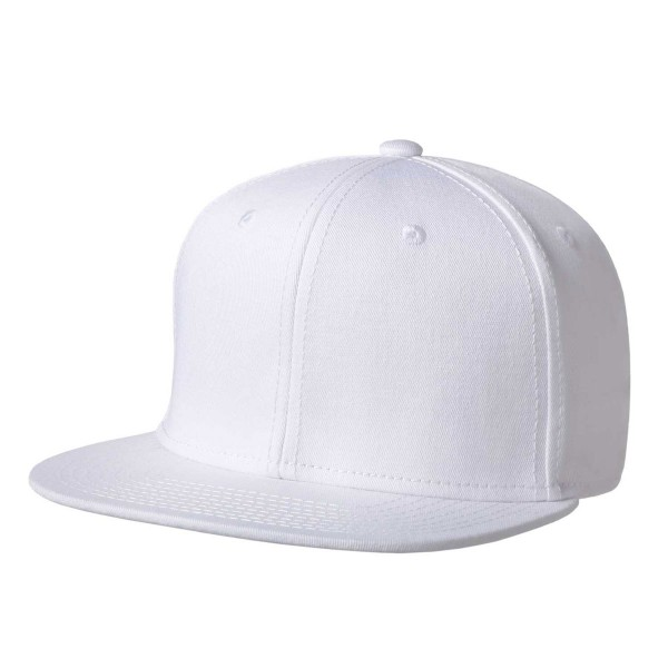 Premium-Cap mit Snapback besticken weiß