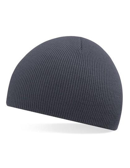 Pull-On Beanie Mütze grau besticken