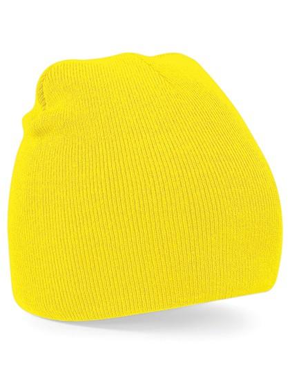 Pull-On Beanie Mütze gelb besticken
