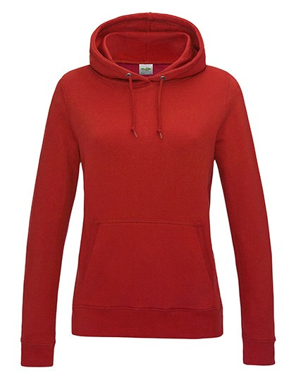 Girlie College Hoodie fire red
