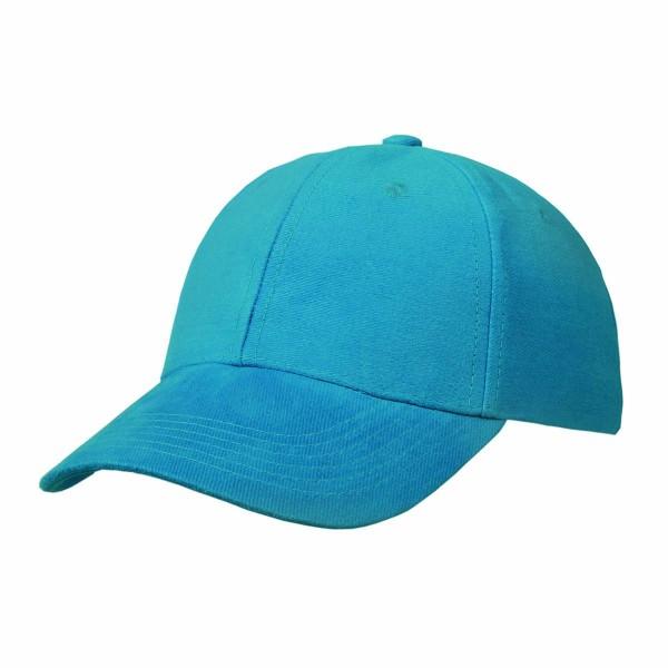 Basic Cap mit Velcro-Verschluss blau