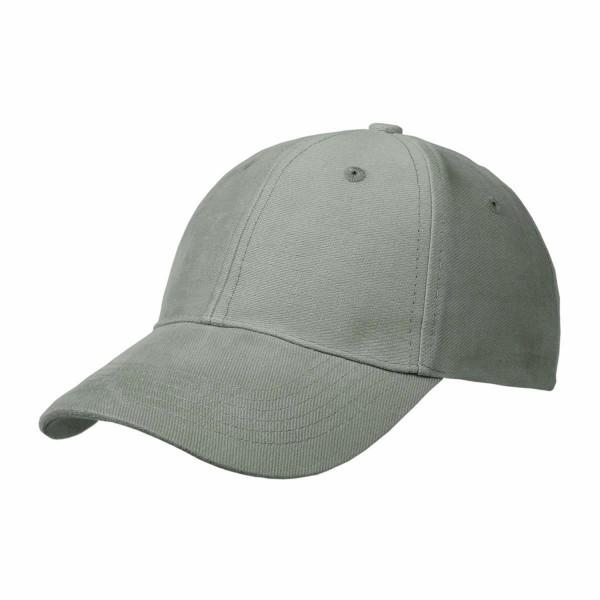 Basic Cap mit Velcro-Verschluss grau