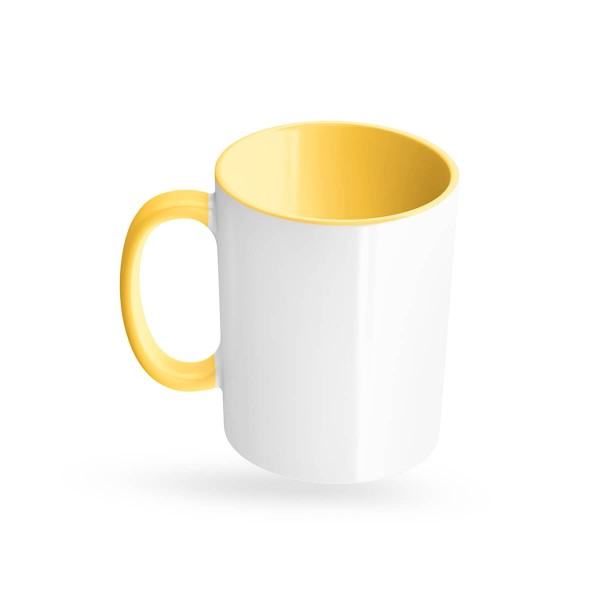 Tassen bedrucken gelb