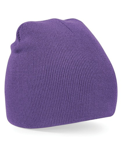 Pull-On Beanie Mütze purple besticken