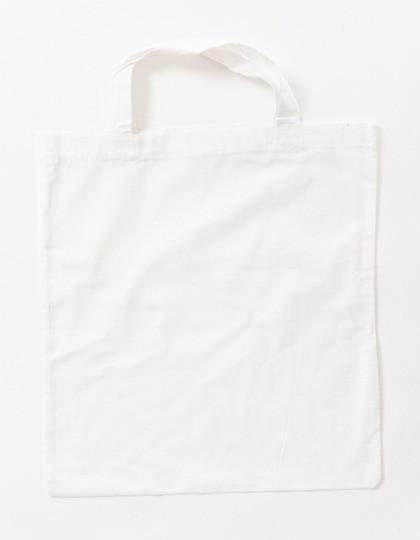 weiße Stoffbeutel kurze Henkel