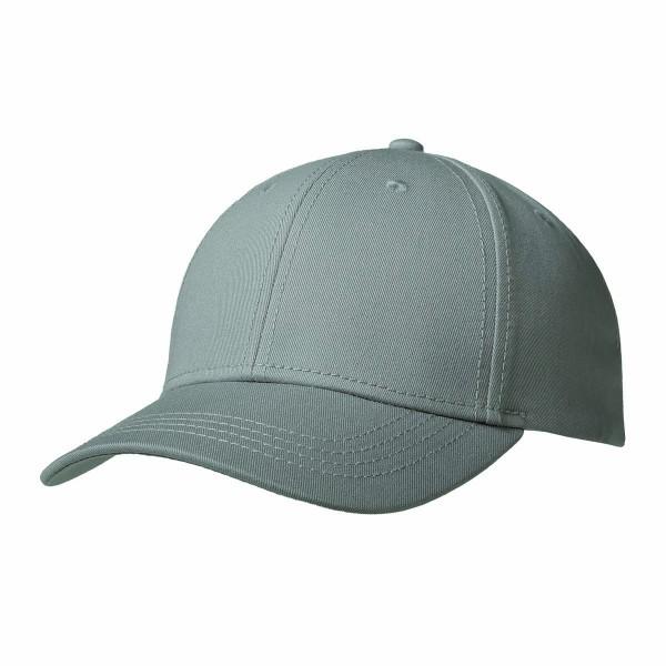 Premium Cap mit Metallverschluss hellgrau