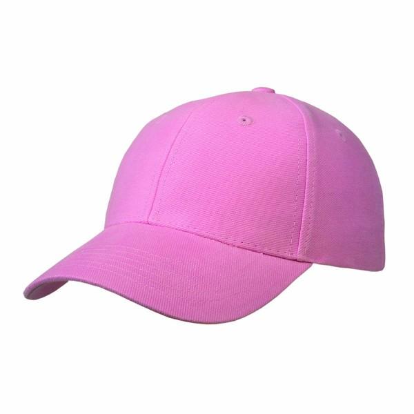Basic Cap mit Velcro-Verschluss pink