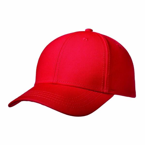Premium Cap mit Metallverschluss rot