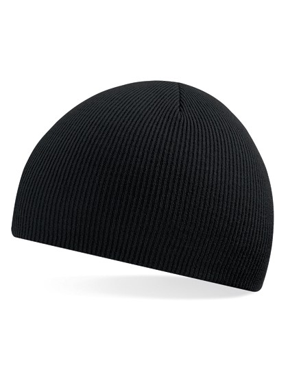 Pull-On Beanie Mütze schwarz besticken