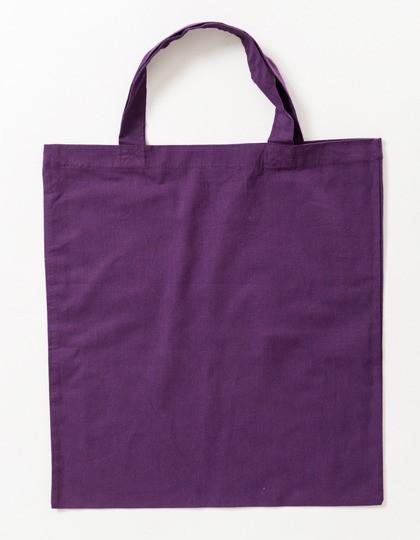 violette Stoffbeutel
